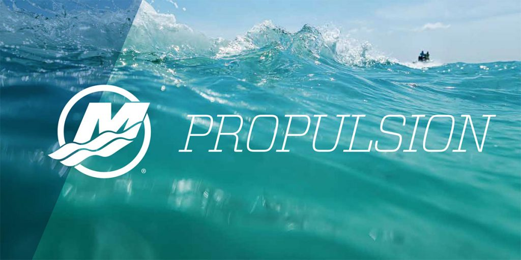 "Propulsion Brochure Cover with the text ""Propulsion"" layered over top of an ocean wave."